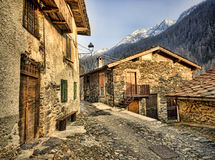 Stone houses in Italy Alps. Traditional stone houses in Italy Alps Royalty Free Stock Images