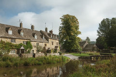 Stone houses in Lower Slaughter, Cotswolds, England Stock Photos