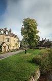 Stone houses in Lower Slaughter, Cotswolds, England Stock Images
