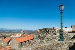 Stone houses and nerrow historical streets in Monsanto village,. Portugal Stock Images