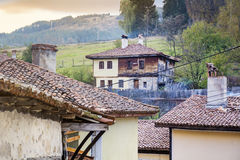 Stone houses in the  revival city of  Koprivshtitza Stock Photo