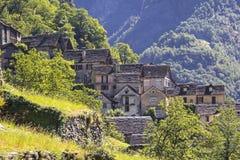 Stone houses, Rustico, Ticino Royalty Free Stock Photos