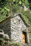 Stone houses, Rustico, Ticino Royalty Free Stock Photography