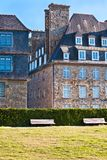 Stone houses in Saint-Malo Royalty Free Stock Images