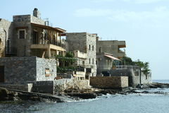 Stone houses by the sea Stock Photography