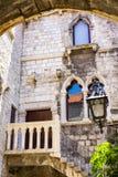 Stone houses stock image