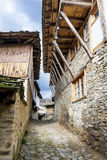 Stone houses with stone roofs  in  the  Village of Leshten,Bulgaria Stock Photos