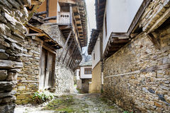 Stone houses with stone roofs  in  the  Village of Leshten,Bulgaria Stock Photography