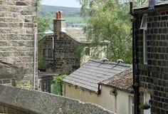 Stone-houses-yorkshire Royalty Free Stock Photo