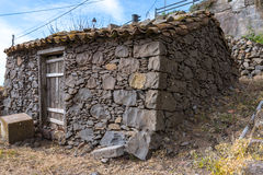 Stone hut in El Cercado on La Gomera Royalty Free Stock Photography