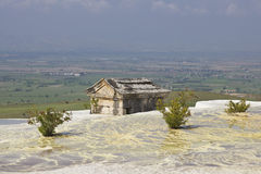 Stone hut in Pamukkale Stock Image