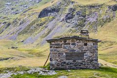 Stone Hut in Pyrenees Royalty Free Stock Image