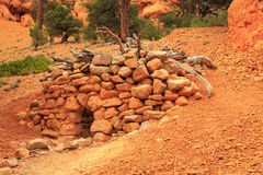 Stone hut in the Utah desert Stock Image
