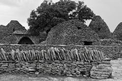 Stone huts in Provence. Stone huts in the Bories Village near Gordes, France Stock Photo