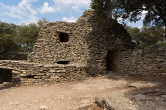 Stone huts in Provence. Stone huts in the Bories Village near Gordes, France Royalty Free Stock Photos