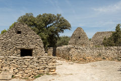 Stone huts, Village des Bories, France Stock Image