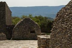 Stone huts, Village des Bories, France Royalty Free Stock Photos