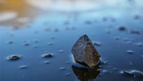 Stone upon Ice, mid winter 1 Stock Image