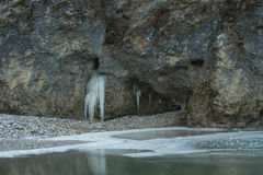 Stone icicle Royalty Free Stock Images
