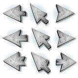 Stone Icons, Cursor And Arrows Royalty Free Stock Image