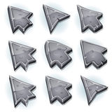 Stone Icons, Cursor And Arrows Stock Image