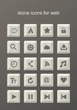 Stone icons for web Stock Images
