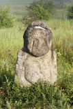 Stone idol in the steppe Royalty Free Stock Images