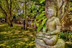 Stone image of Buddha Royalty Free Stock Images