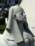 Stone image of a woman's face. Stone image of a woman simliar to a sphinx royalty free stock photo