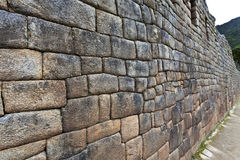 Inca wall in Machu Picchu, Peru Royalty Free Stock Photography