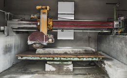 Stone industry - cutting line in saw mill Stock Photography