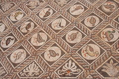 Stone inlay in Delphi,  Greece Stock Photos