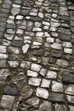 Stone inlayed street in Lisbon, Portugal. Stock Photography