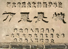 Stone-inscription of 'Great Wall of China' Royalty Free Stock Image
