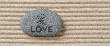 Stone with the inscription Love royalty free stock photos
