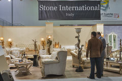 Stone International Italian company booth Royalty Free Stock Photo