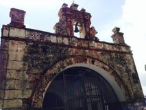 Stone and iron gate Stock Image