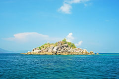 Stone island in the sea. Satul Thailand Royalty Free Stock Photography
