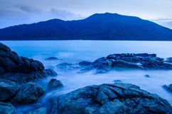 Stone on island in thailand. Stone and sea on island in thailand Royalty Free Stock Image