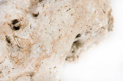 Stone isolated on white background, Natural stone with aging Royalty Free Stock Photos