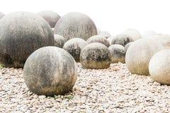 Stone in Japanese garden on white Royalty Free Stock Image