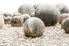 Stone in Japanese garden on white Stock Images
