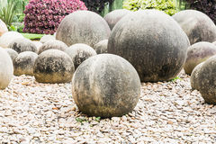 Stone in a Japanese garden Stock Photography