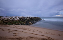Stone jetty Royalty Free Stock Photo