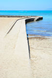 Stone jetty horizon Royalty Free Stock Photo
