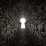 Stone keyhole Royalty Free Stock Images