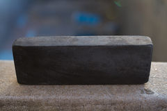 Stone for a kitchen knife. Royalty Free Stock Images