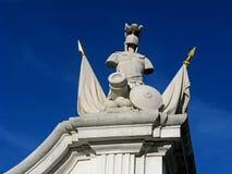 Stone knight. In Bratislava castle, Slovakia Royalty Free Stock Image
