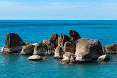 Stone at the Ko Samui. Ko samui seascape view Royalty Free Stock Photo