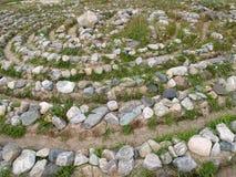 Stone labyrinth on the Big Solovki island, Russia Royalty Free Stock Photo